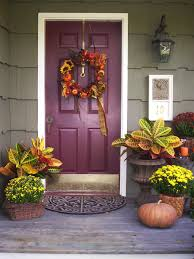 Halloween Wreath Ideas Front Door 10 Fall Door Decorations That Aren U0027t Wreaths Hgtv U0027s Decorating