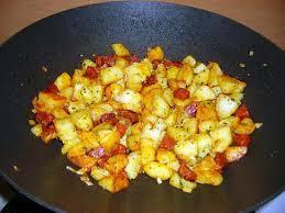 recette cuisine wok recette de wok de pommes de terre et chorizo