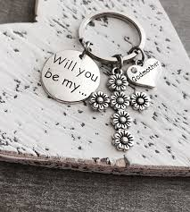 godmother keychain will you be my godmother silver keyring by sajolie on zibbet