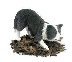 miniature border collie sheepdog resin garden ornament 21 84