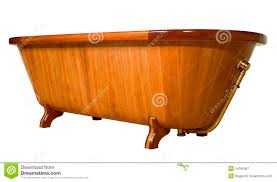 vasche da bagno legno vasca da bagno di legno unica immagine stock immagine 14040807