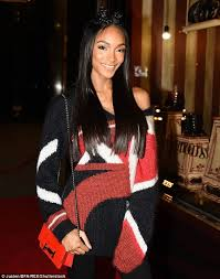 jordan dunn silver hair stunner the mother of one toted her belongings in a tiny red