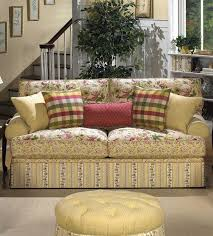 Country French Sofas by Floral Sofas And Loveseats Cottage Style Lime Green Dining Room