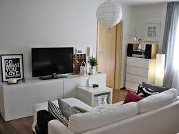 classy living room media with additional corner media units living