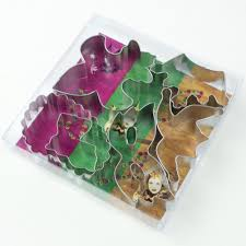 mardi gras cookie cutters mardi gras cookie cutter box set 6 pcs mardigrasoutlet