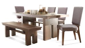 6 Pc Table U0026 Chair Set W Bench By Riverside Furniture Wolf And