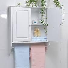 White Towel Cabinet Lovely Modest Bathroom Wall Cabinets With Towel Bar Bathroom Wall