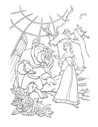 beauty and beast 1 coloringcolor com
