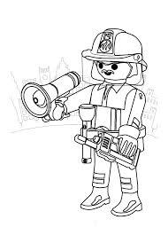 Playmobil pompier casque  Coloriage Playmobil  Coloriages pour enfants