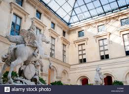 cour marly louvre museum paris france stock photo royalty free