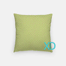 grape grid pillow plaid pillow cover lime pillow case green
