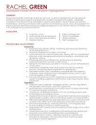 Building Maintenance Resume Samples by Resume Template Fleet Maintenance Manager