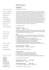 teacher cv template lessons pupils teaching job coursework
