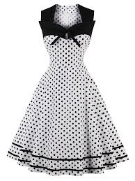 vintage dresses plus size hepburn dresses vintage square neck polka dot