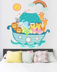 Baby Nursery Decals Noah U0027s Ark Baby Room Decals Animal Decals Nursery Wall Decal