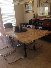 stone and tile fixit granite table top on standard table platform