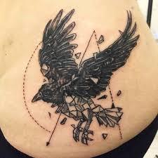 geometric crow tattoo imgur