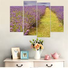 purple lavender canvas painting provence scenery wall art poster