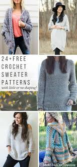 free crochet patterns for sweaters 24 easy free crochet sweater patterns do crew