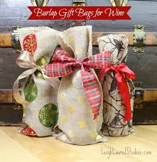 burlap gift bags wine gift bags made with burlap karin studio