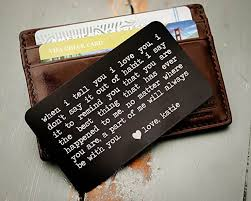 engraveable gifts custom engraved wallet insert personalized wallet