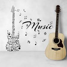 popular music walls buy cheap music walls lots from china music musical series art wall decal music notes made up guitar pattern special designed wall stickers vinyl