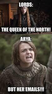 Arya Meme - funny game of thrones sansa arya meme mild 7 6 spoiler