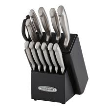 Farberware Kitchen Knives Self Sharpening 13 Pc Knife Block Set With Edgekeeper Technology