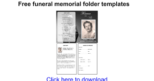 funeral booklet sles free funeral memorial folder templates docs