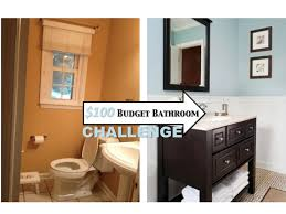 bathroom makeover ideas on a budget two it yourself small bathroom makeover 100 budget challenge