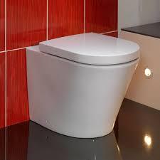 interior back to wall toilet installation bathroom sink vanity