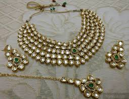 emerald stone necklace jewelry images Vilandi kundan emerald stone necklace set jpg