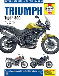 haynes releases triumph tiger 800 u0026 800xc workshop manual morebikes