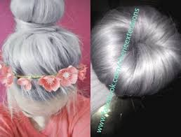Grey Human Hair Extensions by 8a Remy Human Hair Clip In Buns Silver Grey 100 Human Hair