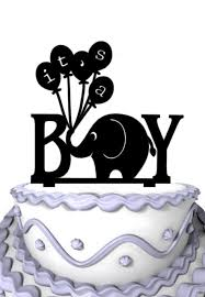 funny it u0027s a boy elephant silhouette cake topper baby shower cake
