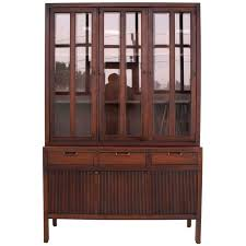 Modern Cupboards Mid Century Modern Fluted Doors Walnut China Cabinet Hutch At 1stdibs