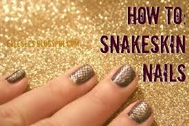 elle sees beauty blogger in atlanta how to snakeskin nails