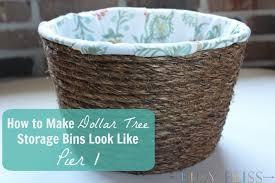 how to make dollar tree storage bins look like pier 1 busy bliss