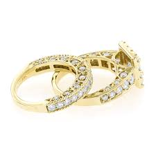 princess cut gold engagement rings princess cut engagement ring wedding band set 3 5ct