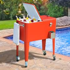 Outdoor Cooler Cart On Wheels by Patio Deck Cooler Plans Home Outdoor Decoration
