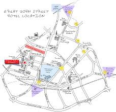 Manchester England Map by Contact Us Great John Street Eclectic Hotels Manchester
