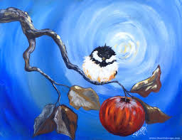cheerful chickadee for the online tutorial easy painting fully