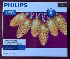 philips pine cone string lights philips battery powered indoor christmas lights ebay