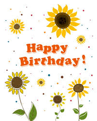 cute flower with happy birthday greeting cards vector 05 free