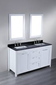 bathroom double sink vanity in modern theme made of black maple