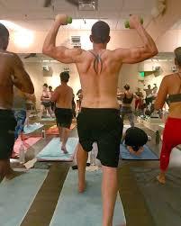 tarek el moussa enjoying yoga during his separation people com