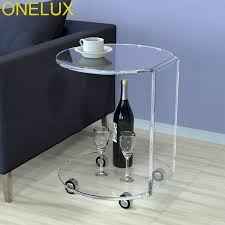 c table with wheels 60 40 47cm modern wood bedside table sofa side coffee table mobile