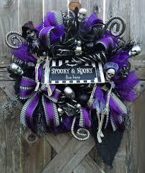 halloween wreath spooky wreath halloween decor halloween door