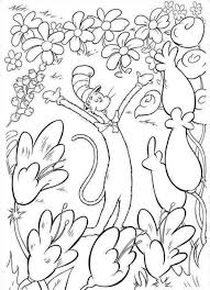 download cat in the hat printable coloring pages