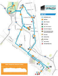 Richmond Virginia Map by Anthem Richmond Marathon Course Maps